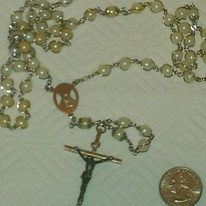Vintage Estate Rosary Pearl Necklace